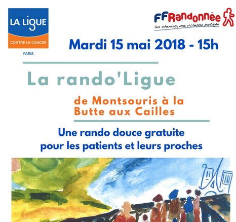 15 mai  - Rejoignez la marche de la ligue contre le cancer à Paris -