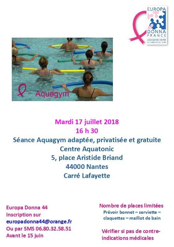 Séance d'aquagym - 17 Juillet