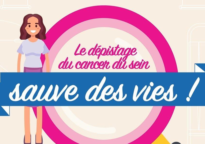 Le dépistage du cancer du sein sauve des vies !