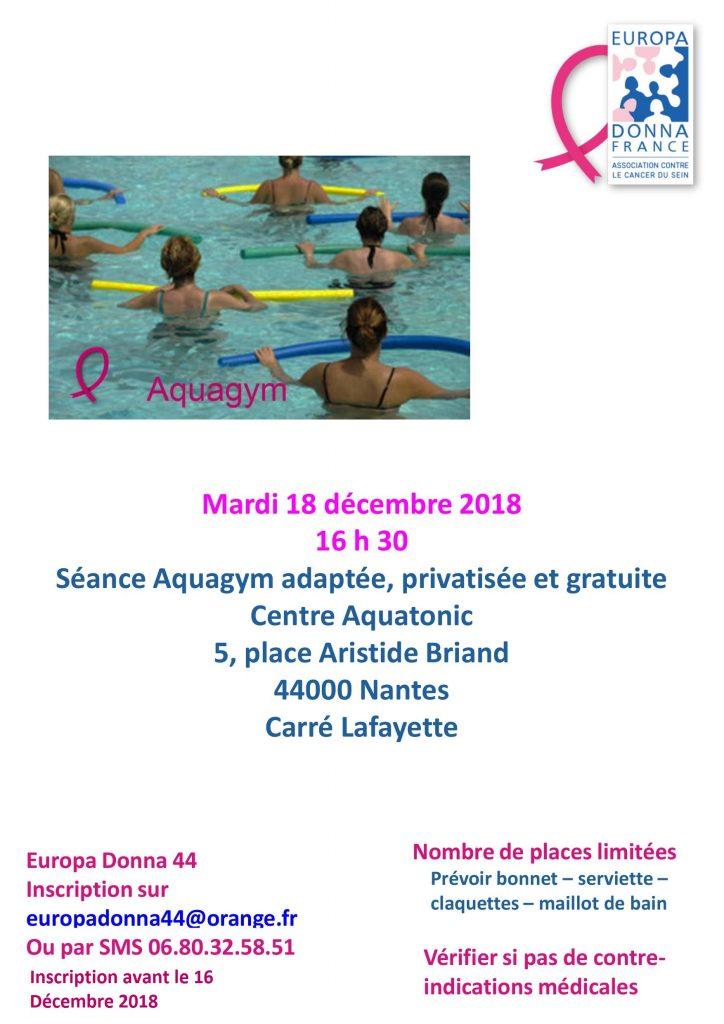 Séance d'Aquagym Adaptée à Nantes