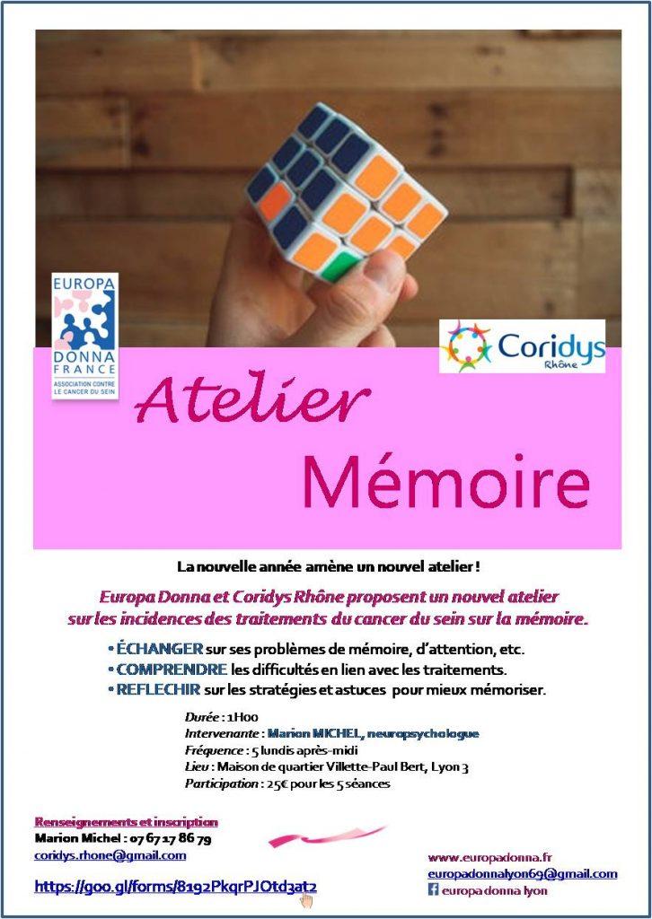 Ateliers Mémoire à Lyon