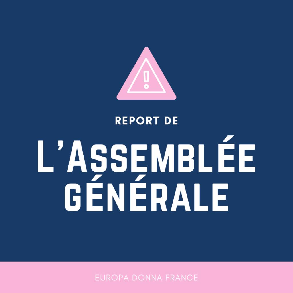 Assemblée Générale d'Europa Donna France [Reportée]