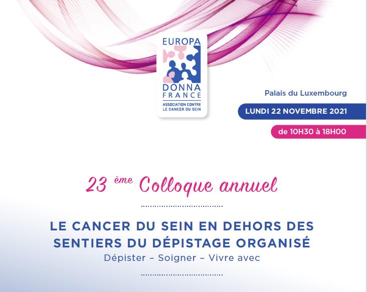 Colloque Europa Donna France : 22 novembre 2021